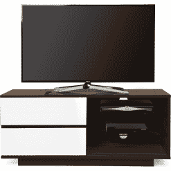 MDA Designs GALLUS 1100 Walnut / Gloss White TV Stand