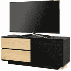 MDA Designs GALLUS ULTRA 1100 Gloss Black / Oak TV Stand