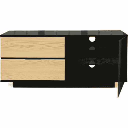 Additional Images For MDA Designs Gallus Ultra 1100 Gloss Black Oak TV Stand