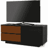 Main Image For MDA Designs Gallus Ultra 1100 Gloss Black Walnut TV Stand
