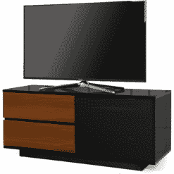 MDA Designs GALLUS ULTRA 1100 Gloss Black / Walnut TV Stand