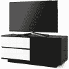 Main Image For MDA Designs Gallus Ultra 1100 Gloss Black White TV Stand