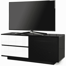 MDA Designs GALLUS ULTRA 1100 Gloss Black / White TV Stand