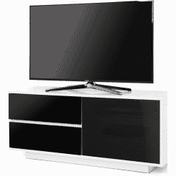 MDA Designs GALLUS ULTRA 1100 Gloss White / Black TV Stand