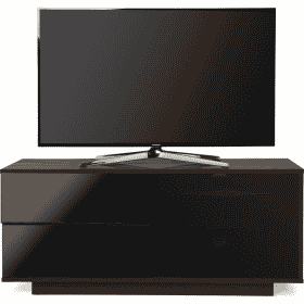 MDA Designs GALLUS ULTRA 1100 Walnut / Gloss Black Drawer TV Stand