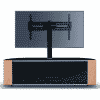 Main Image For MDA Designs Sirius 1600 Hybrid Cantilever Gloss Black Oak Walnut Corner TV Cabinet