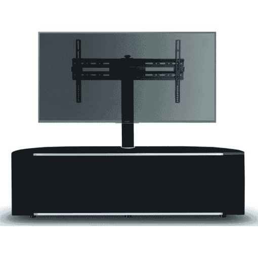 Main Image For MDA Designs Sirius 1600 Hybrid Cantilever Gloss Black Silver Trim Corner TV Cabinet