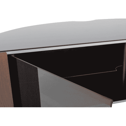 Additional Images For MDA Designs Sirius 1600 Hybrid Cantilever Gloss Black Silver Trim Corner TV Cabinet