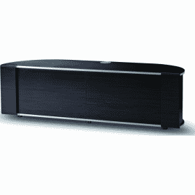 MDA Designs SIRIUS 1600 HYBRID Gloss Black Silver Trim Corner TV Cabinet