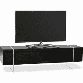 MDA Designs SPACE 1600 HYBRID Black Gloss Black TV Stand