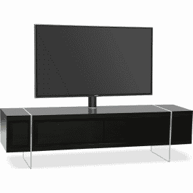 MDA Designs SPACE 1600 HYBRID Cantilever Black Gloss Black TV Stand