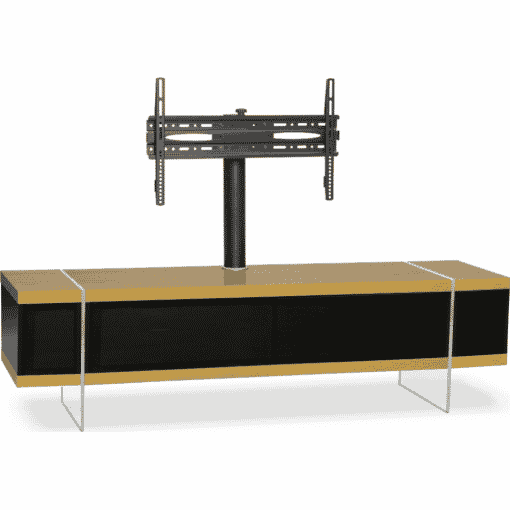 Additional Images For MDA Designs Space 1600 Hybrid Cantilever Oak Gloss Black Oak TV Stand