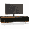 Main Image For MDA Designs Space 1600 Hybrid Cantilever Walnut Gloss Black Walnut TV Stand