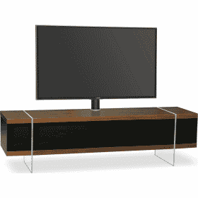 MDA Designs SPACE 1600 HYBRID Cantilever Walnut Gloss Black / Walnut TV Stand