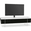 Main Image For MDA Designs Space 1600 Hybrid Cantilever White Gloss Black Gloss White TV Stand