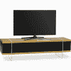 Main Image For MDA Designs Space 1600 Hybrid Oak Gloss Black Oak TV Stand