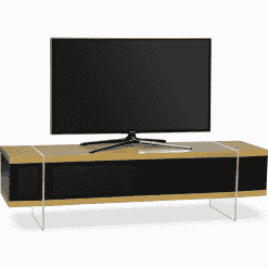 MDA Designs SPACE 1600 HYBRID Oak Gloss Black / Oak TV Stand