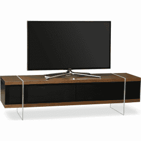 MDA Designs SPACE 1600 HYBRID Walnut Gloss Black / Walnut TV Stand