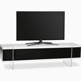 MDA Designs SPACE 1600 HYBRID White Gloss Black / Gloss White TV Stand