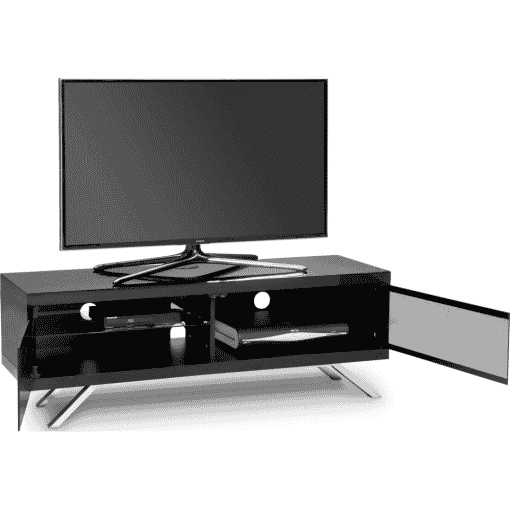 Additional Images For MDA Designs Tucana 1200 Hybrid Cantilever Gloss Black TV Stand