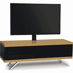 MDA Designs TUCANA 1200 HYBRID Cantilever Oak Gloss Black / Oak TV Stand
