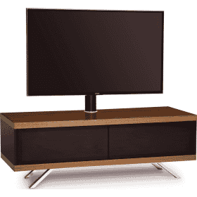 MDA Designs TUCANA 1200 HYBRID Cantilever Walnut Gloss Black / Walnut TV Stand