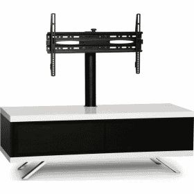 Additional Images For MDA Designs Tucana 1200 Hybrid Cantilever White Gloss Black Gloss White TV Stand