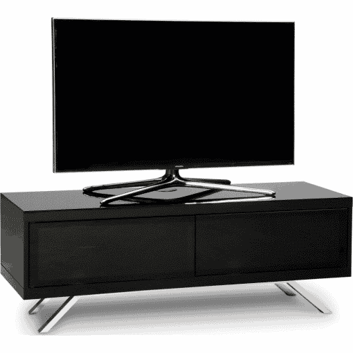 Main Image For MDA Designs Tucana 1200 Hybrid Gloss Black TV Stand