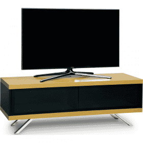 MDA Designs TUCANA 1200 HYBRID Oak Gloss Black / Oak TV Stand