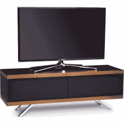 MDA Designs TUCANA 1200 HYBRID Walnut Gloss Black / Walnut TV Stand