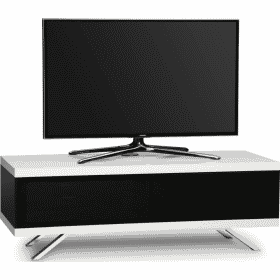 MDA Designs TUCANA 1200 HYBRID White Gloss Black / Gloss White TV Stand