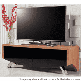 Lifestyle Home Setting Images For MDA Designs Wave 1200 Hybrid Cantilever Oak TV Stand