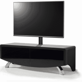 MDA Designs WAVE 1200 HYBRID Cantilever Satin Black TV Stand