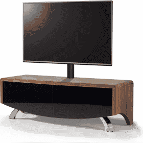 MDA Designs WAVE 1200 HYBRID Cantilever Walnut TV Stand
