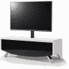 Main Image For MDA Designs Wave 1200 Hybrid Cantilever White Black Satin TV Stand