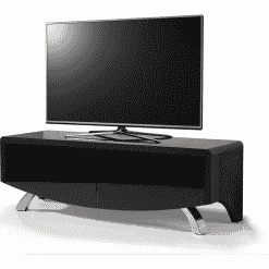 MDA Designs WAVE 1200 HYBRID Satin Black TV Stand