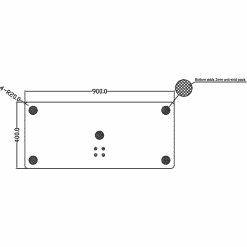 Dimensions Technical Drawing For Multibrackets M Display TV Stand 180 Single Black With Floor Base 2425