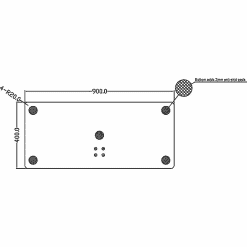 Dimensions Technical Drawing For Multibrackets M Display TV Stand 180 Single Silver With Floor Base 2418