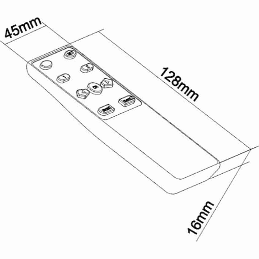 Dimensions Technical Drawing For Multibrackets M Motorised SWing TV Mount Large 4500