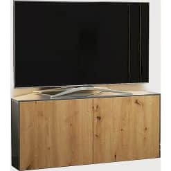 Frank Olsen INTEL1100LED-CORNER-GRY-OAK 1100 Corner Grey TV Cabinet Oak Veneer Doors