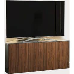 Frank Olsen INTEL1100LED-CORNERGRY-WAL 1100 CORNER Grey TV Cabinet WALNUT Veneer Doors