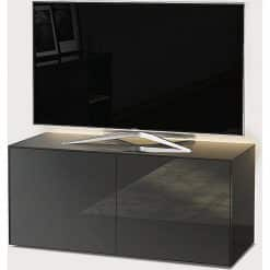 Frank Olsen Furniture INTEL1100LED-GRY High Gloss Grey 1100 TV Unit Cabinet