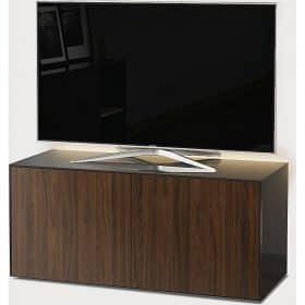 Frank Olsen INTEL1100LED-GRY-WAL 1100mm 110cm Grey TV Cabinet Walnut Doors