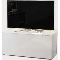 Frank Olsen Furniture INTEL1100LED-WHT High Gloss White 1100 TV Unit Cabinet