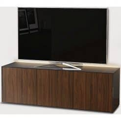Frank Olsen INTEL1500LED-GRY-WAL 1500mm 150cm Grey TV Cabinet Walnut Doors